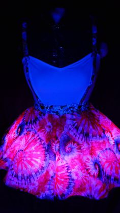 Light up Tie Dye Unicorn Rave Dress RGB LED by MDMAtelier on Etsy