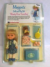 700 Knickerbocker, 1978 Moppets Doll & Play Set,  Mandy Goes Traveling, NRFSC