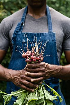 A harvest of radishes from on Keith G. Robinson's country estate in Chattahoochee Hills, Georgia, an antebellum estate called Hutcheson-Redwine Plantation. Photo by Nick Burchell. | Garden & Gun