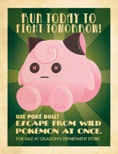 Delightful Vintage-Style Pokémon Ads