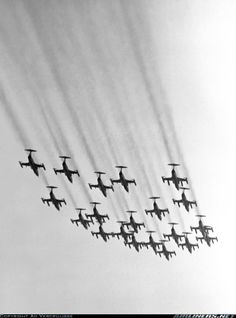 Dutch 104s howl in a splendid formation, back in 1980.