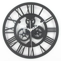 Antique Gear Wall Clock, Vintage Mechanical Gear Clock, Large Industrial, Loft Art Home Living Room Wall Decoration