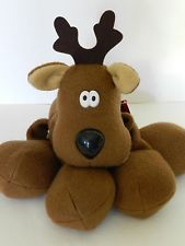 LARGE 14' Vintage Plush Rodney Reindeer by Hallmark with Tags 80's Christmas