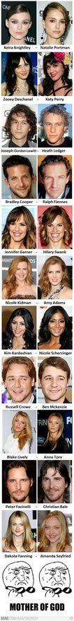celebrity vs celebrity look alike hahaha :) just-for-fun