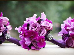 Like this bouquet..but pink and maybe the ribbon will be black....thoughts?