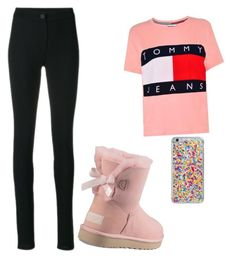 """""""Back to school"""" by robynique-patton on Polyvore featuring UGG, Tommy Hilfiger, Ann Demeulemeester and Skinnydip"""