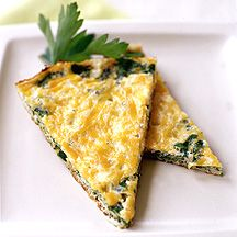 Spinach and Cheddar Frittata - 3 ww+ points