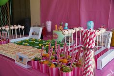 In the Night Garden theme - Sweets Table I created for my daughter's 1st birthday (Credits: Cutlery - Bespoke Party Products; Cake Pops - Cake Pop House; Cake - Cornelli Cakes; Rest - Me!)