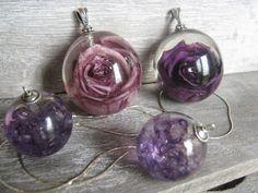 Résine harmonie de parme et violet  Atelier de Jade 2012