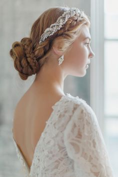Winter Bride - Winter Wedding Inspiration - Long Sleeved Wedding Dress