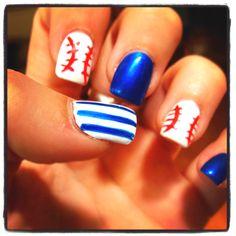 My NYY themed nails!