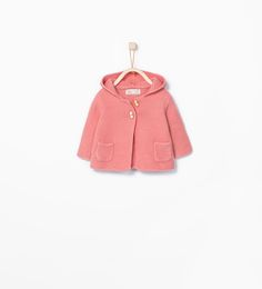 Image 1 of HOODED THREE QUARTER LENGTH COAT from Zara