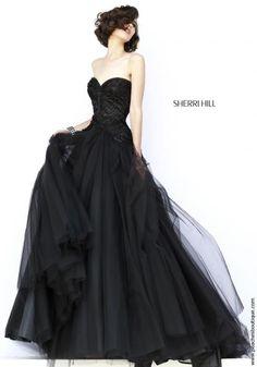 Sherri Hill Tulle Skirt A Line Dress 32137