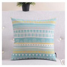 Blue geometric striped sofa cushions decorative pillows for couch