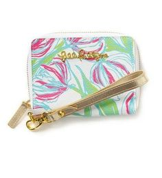 Lilly Pulitzer Charlotte Wristlet Phone Case in Ring the Bellboy