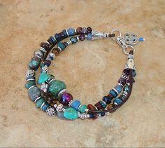Boho Bracelet, Turquoise Jewelry, Southwest Jewelry, Rustic Jewelry, Bohemian Jewelry, Aztec