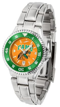 Ladies' Competitor Steel AnoChrome Watch with Color Bezel by Suntime Showcase the hottest design in watches today! A functional rotating bezel is color-coordinated to compliment your favorite team log