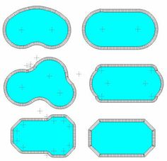 Pool shapes, Pools and Shape on Pinterest