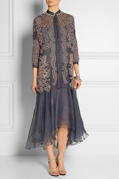 Biyan | Atalia embellished tulle and silk-organza dress | NET-A-PORTER.COM