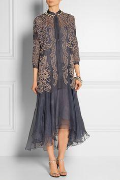 Biyan|Atalia embellished tulle and silk-organza dress|NET-A-PORTER.COM