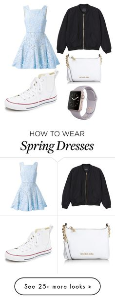 """just your average casual spring time outfit"" by livhaenel on Polyvore featuring Alex Perry, Monki, Converse, Michael Kors, women's clothing, women, female, woman, misses and juniors"