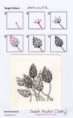 56 Trendy Drawing Ideas Step By Step Doodles Zentangle Patterns Zentangle Drawings, Doodles Zentangles, Doodle Drawings, Doodle Art, Zen Doodle, Doodle Patterns, Zentangle Patterns, Flower Patterns, Easy Patterns To Draw