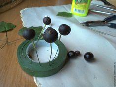 Лепим веточку черной смородины из холодного фарфора « Керамическая флористика. Цветы из холодного фарфора. Уроки и мастер-классы