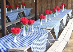 Rustic tables from Western Cowboy Birthday Party at Kara's Party Ideas. See more at karaspartyideas.com!
