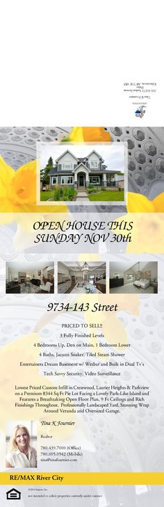 ST Priced to sell. Open house on Nov. 2014 from to You're invited! Open Ceiling, Steam Showers, Youre Invited, Jacuzzi, Open House, Entertaining, River, Island, Building