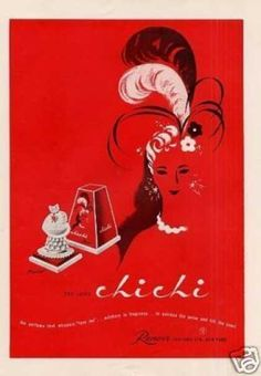 Chi Chi Vintage Perfume ad.