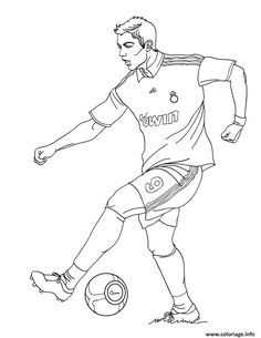 Christiano Ronaldo playing soccer coloring page. You can also color online your Christiano Ronaldo playing soccer coloring page Would you like to offer . Football Coloring Pages, Sports Coloring Pages, Coloring Pages For Boys, Free Coloring Pages, Printable Coloring Pages, Coloring Sheets, Coloring Books, Soccer Guys, Soccer Players