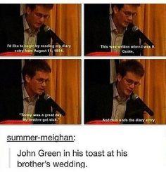 Who doesn't love John Green?