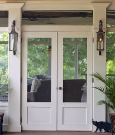 Flat Paneled Double Screen Doors The Porch Companythe Porch in size 1800 X 2115 Screen Porch Doors - A screen door is a great way to not just allow some Screened Front Porches, Screened Porch Designs, Entrance Doors, Patio Doors, Doorway, Double Screen Doors, Screen Porch Panels, French Doors With Screens, Porch Kits