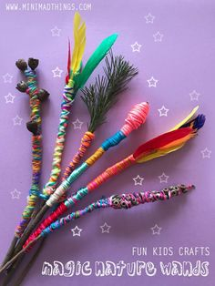 Make some magic with your kids with these easy to make magic nature wands. Fun Crafts For Kids, Diy For Kids, Crafts To Make, Cool Kids, Magic Wand Craft, Magic Wands, Potions For Kids, Diy Wand, Kids Art Class