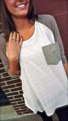 Everyday Baseball Tee-- love baseball tees.. i want like 10 of these in each color but i looove the gray