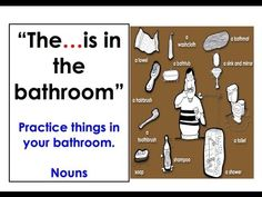 The soap is in the bathroom. Learning English, English Lessons, Easy English Conversation, Educational Videos, English Grammar, First Grade, Vocabulary, Writer, Audio