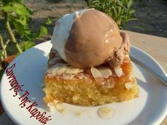 Samali - Σάμαλι Greek Sweets, Greek Recipes, Deserts, Food And Drink, Ice Cream, Pudding, Banana, Eat, Breakfast