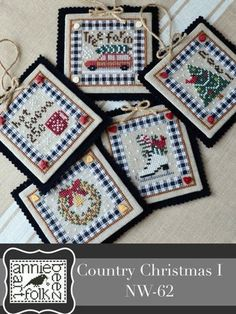 Cross Stitch Christmas Ornaments, Christmas Embroidery, Christmas Cross, Country Christmas, Xmas Ornaments, Crochet Ornaments, Christmas Patterns, Christmas Sewing, Merry Christmas