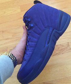 84e10b68701 The Air Jordan 12 Deep Royal Blue is showcased in another perspective. Look  for it at select Jordan Brand retailers on November