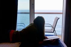 laying on bed of cruise ship balcony on the Norwegian Bliss where we got a free balcony upgrade on the cruise Carnival Pride, Carnival Legend, Carnival Spirit, Cruise Port, Cruise Vacation, Dream Vacations, Deck Plans, Cabin Plans, Carnival Elation