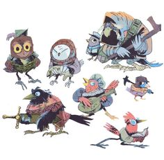 Check out the design, Bird People, on kyleferrin – available on a range of custom products Fantasy Character Design, Character Design Inspiration, Character Concept, Character Art, Concept Art, Game Character Design, Character Illustration, Illustration Art, Bird People