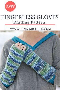 FREE Knitting pattern for these Fingerless Gloves!