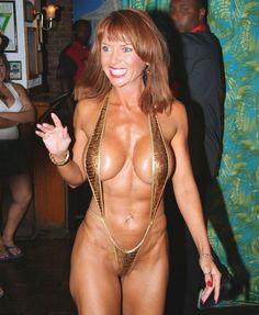 In Bikini Redhead Older