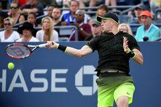 Isner vs. Edmund   September 02, 2016 - Kyle Edmund in action against John Isner during the 2016 US Open at the USTA Billie Jean King National Tennis Center in Flushing, NY.