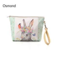 New Women Make Up Bags Flower Floral Canvas Zipper Cosmetic Case Simple Casual Girls Lady Pouch Storage Travel Organizer