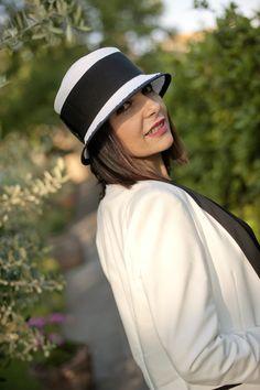 Smilingischic cappello bianco e nero