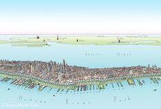 Readersmaps: Susan Hunt Yule's Manhattan map