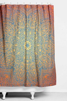 Magical Thinking Glow-Medallion Shower Curtain - Urban Outfitters