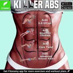 Tutorials Gym Tips on Total Abs and more routines, tag som. -Fitness Tutorials Gym Tips on Total Abs and more routines, tag som. Killer Ab Workouts, Killer Abs, Gym Workouts, At Home Workouts, Workout Exercises, Tummy Exercises, Workout Gear, Fitness Workout For Women, Fitness Routines