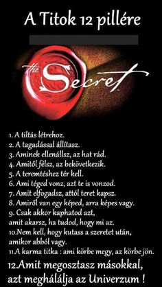 A Titok 12 pillére Rhonda Byrne Secret Law Of Attraction, How To Manifest, Spiritual Awakening, Spiritual Meditation, The Secret, Secret Book, Quotations, Motivational Quotes, Life Quotes